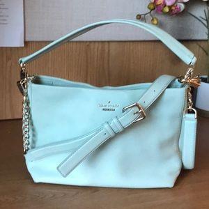 Kate Spade Seafoam Green Chain Crossbody Bag